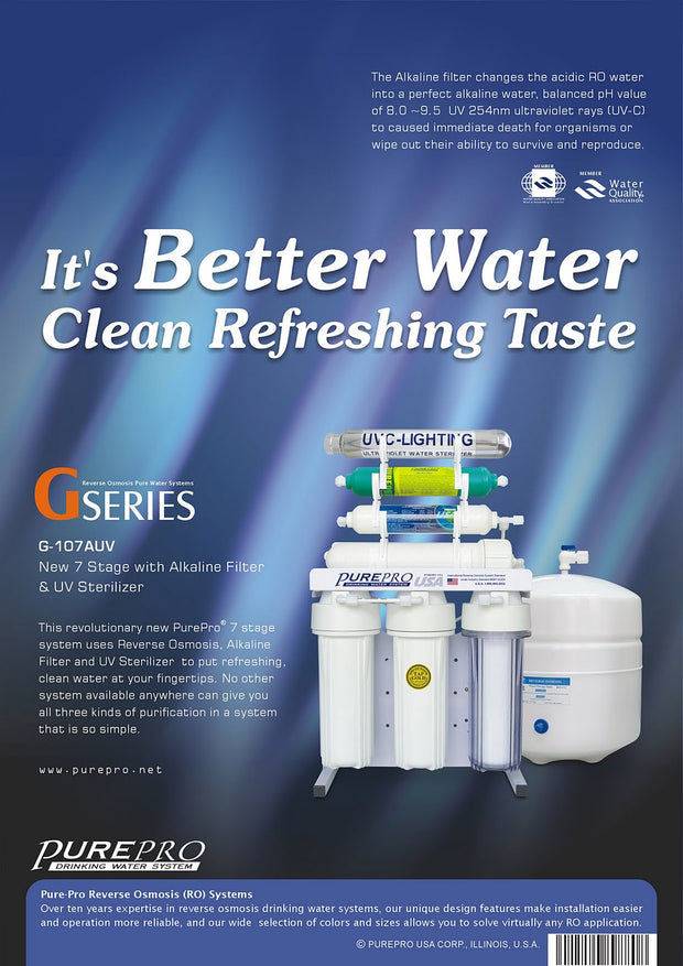 PurePro® USA Reverse Osmosis Water Filtration System G107AUV