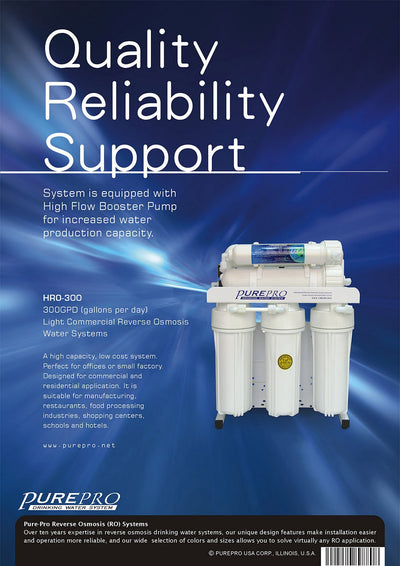 PurePro® USA Light Commercial Reverse Osmosis Water Filtration System HRO-300