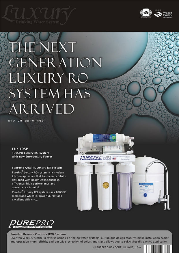 PurePro® USA Reverse Osmosis Water Filter System LUX-105P