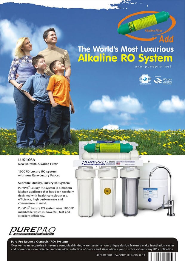 PurePro® USA Alkaline RO Water Filter System LUX-106A