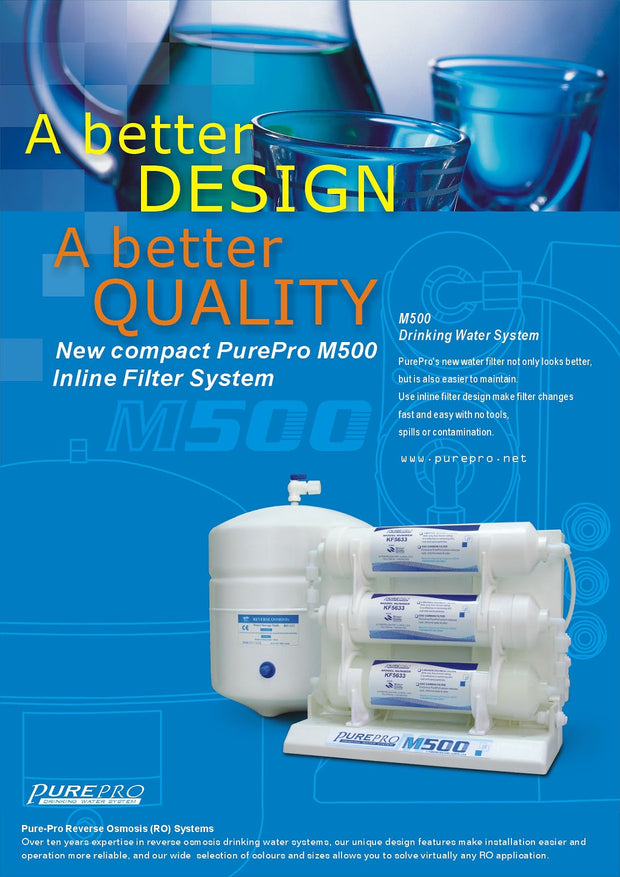 PurePro® USA Reverse Osmosis Water Filter System M500