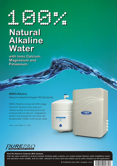 PurePro® USA Reverse Osmosis Water Filter System M800-Alkaline