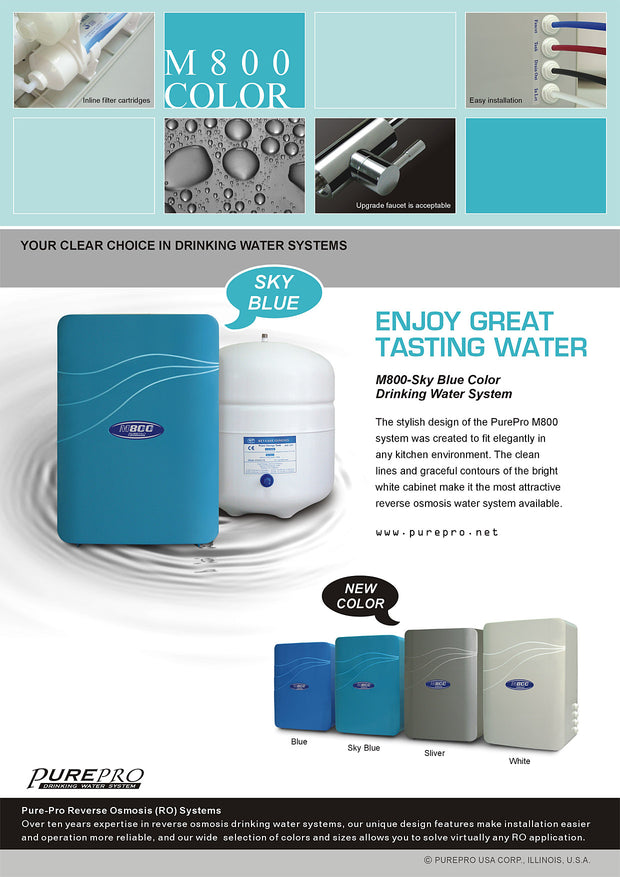 PurePro® USA Reverse Osmosis Water Filter System M800