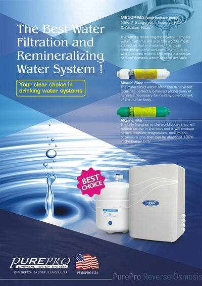 PurePro® USA Reverse Osmosis Water Filter System M800P-MA