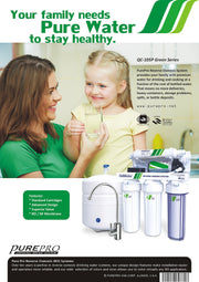 PurePro® USA Reverse Osmosis Water Filter System QC-105P Green Series