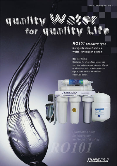 PurePro® USA Reverse Osmosis Water Filtration System RO101