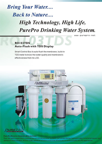 PurePro® USA Reverse Osmosis Water Filtration System RO103TDS