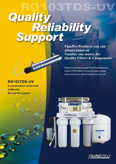 PurePro® USA Reverse Osmosis Water Filtration System RO103TDS-UV