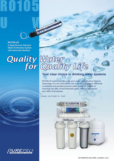 PurePro® USA Reverse Osmosis Water Filtration System RO105-UV