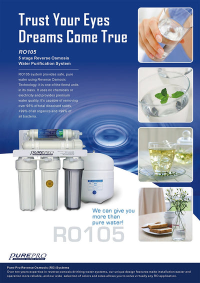 PurePro® USA Reverse Osmosis Water Filtration System RO105