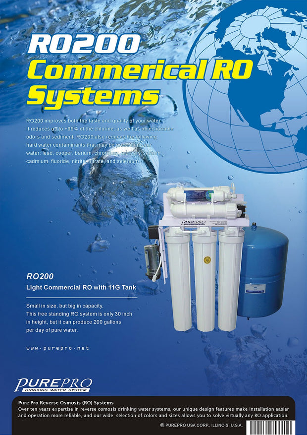 PurePro® USA Light Commercial Reverse Osmosis Water Filtration System RO200
