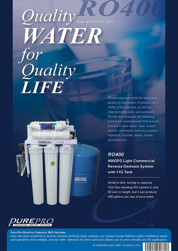 PurePro® USA Light Commercial Reverse Osmosis Water Filtration System RO400