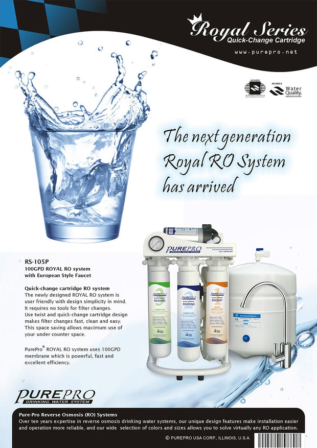 PurePro® USA Reverse Osmosis Water Filtration System RS-105P