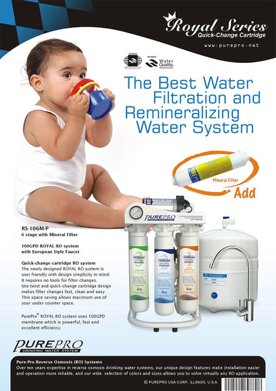PurePro® USA Reverse Osmosis Water Filtration System RS-106MP