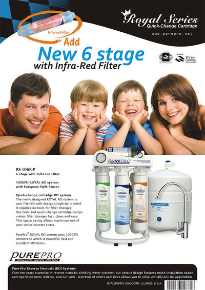 PurePro® USA Reverse Osmosis Water Filtration System RS-106RP