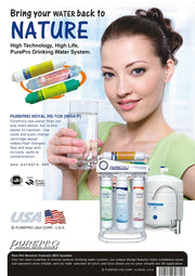 PurePro® USA 8 Stage Alkaline RO Water Filtration System RS-108