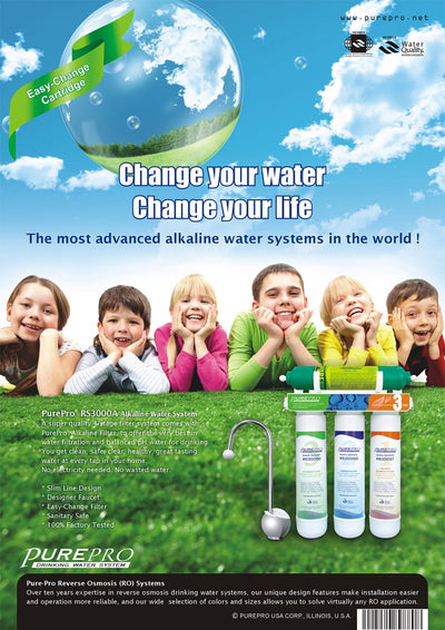 PurePro® USA 3-Stage Alkaline Water Filtration System RS3000A