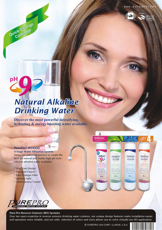 PurePro® USA 4-Stage Alkaline Water Filtration System RS4000