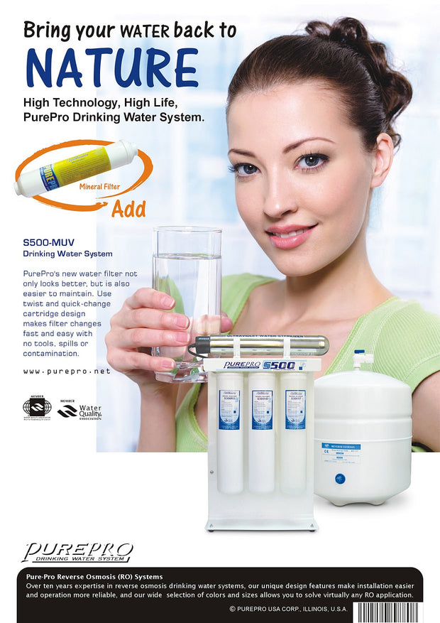 PurePro® USA Reverse Osmosis Water Filtration System S500-MUV