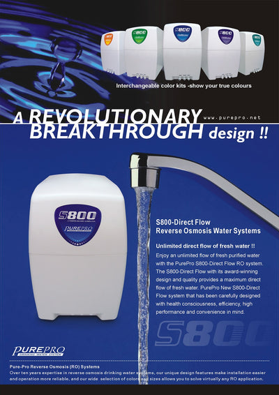 PurePro® USA Reverse Osmosis Water Filtration System S800-Direct Flow