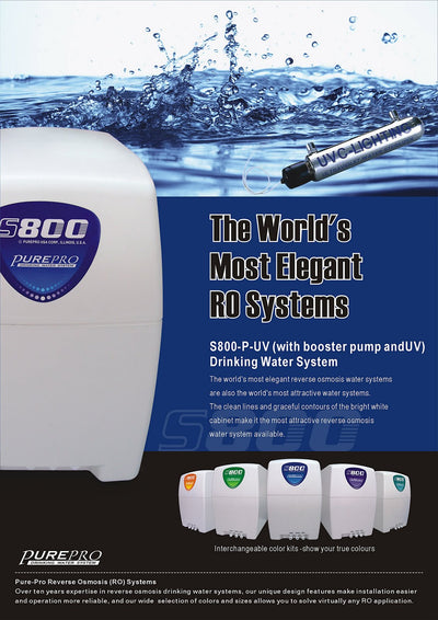 PurePro® USA Reverse Osmosis Water Filtration System S800-MUV