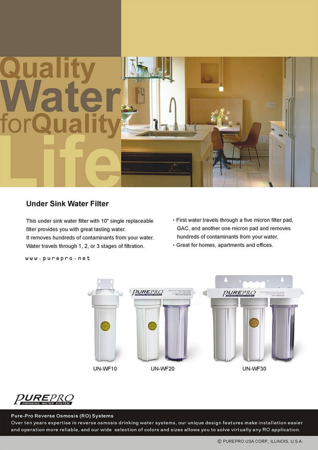 PurePro® USA  Under Sink Home Water Filtration System UN-WF20