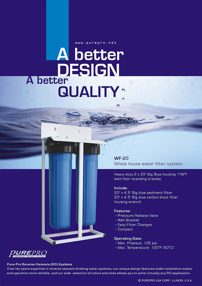 PurePro® USA Whole House Water Filter System WF-20