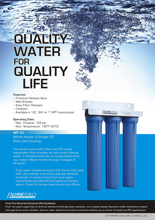 PurePro® USA Whole House Water Filter System WF-30