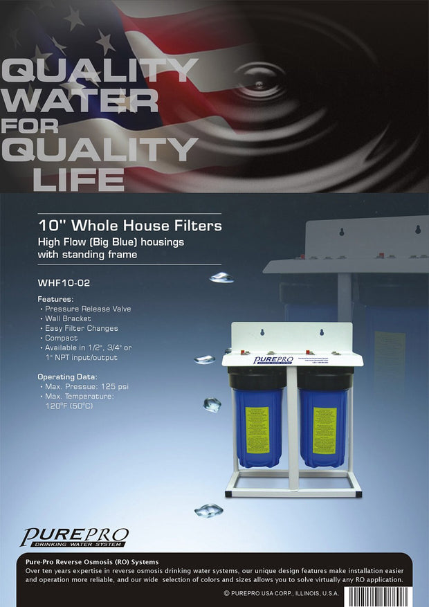 PurePro® USA Whole House Water Filter System WHF10-02