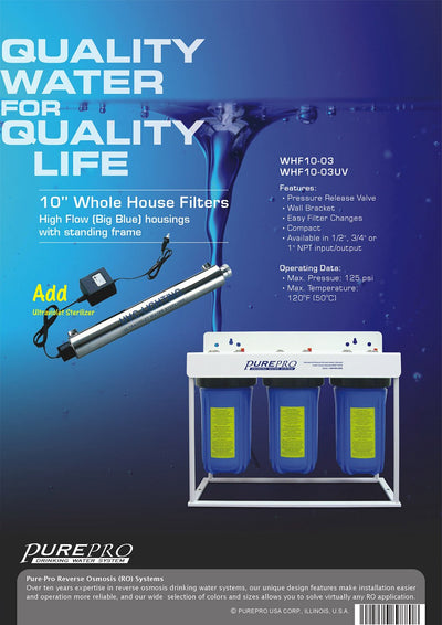 PurePro® USA Whole House Water Filter System WHF10-03