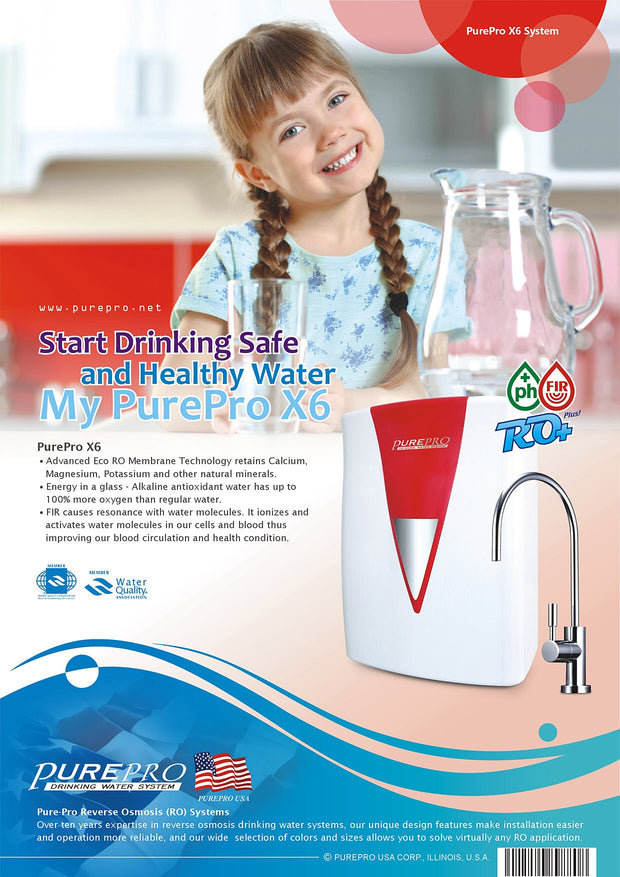 PurePro® USA Reverse Osmosis Water Filter System X6 - FIR