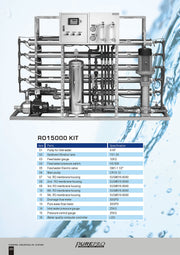 PurePro® USA Industrial Reverse Osmosis System, Commercial RO System RO15000