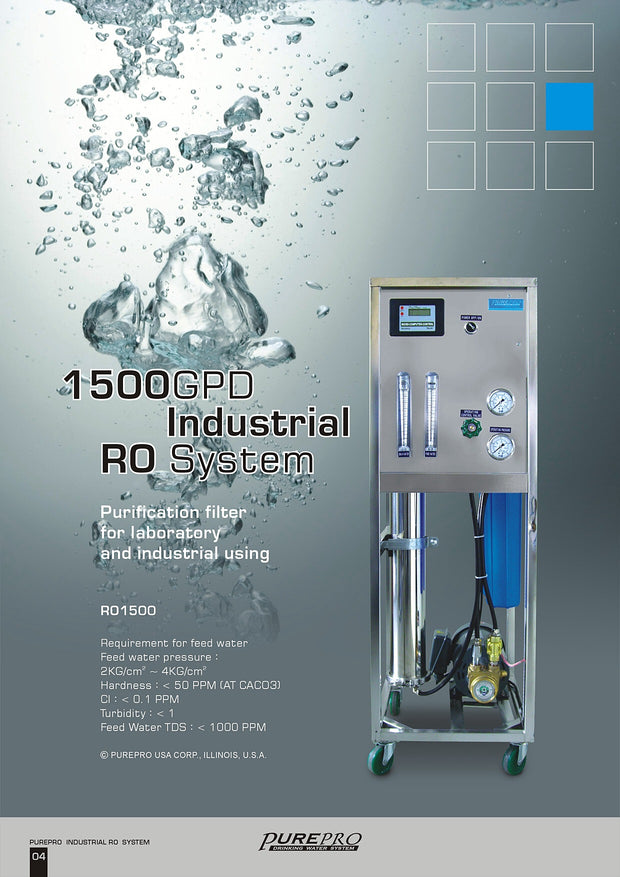 PurePro® USA Industrial Reverse Osmosis System, Commercial RO System RO1500