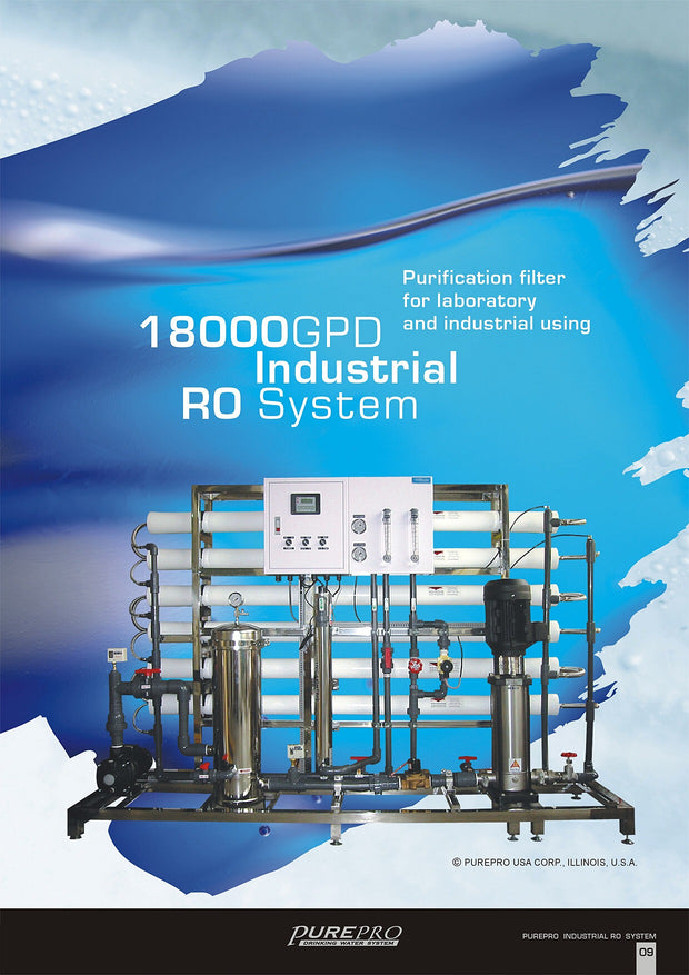 PurePro® USA Industrial Reverse Osmosis System, Commercial RO System RO18000