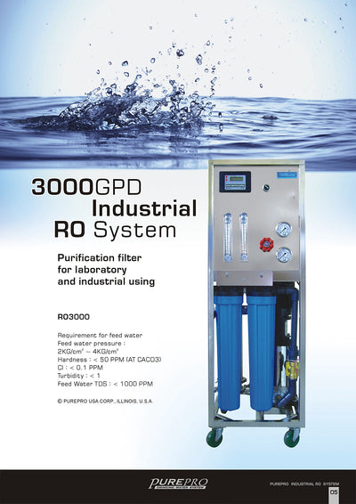 PurePro® USA Industrial Reverse Osmosis System, Commercial RO System RO3000