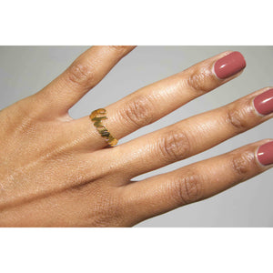 "#MYCHARM 'WORD' RING ""ROSÉ GOUD"""