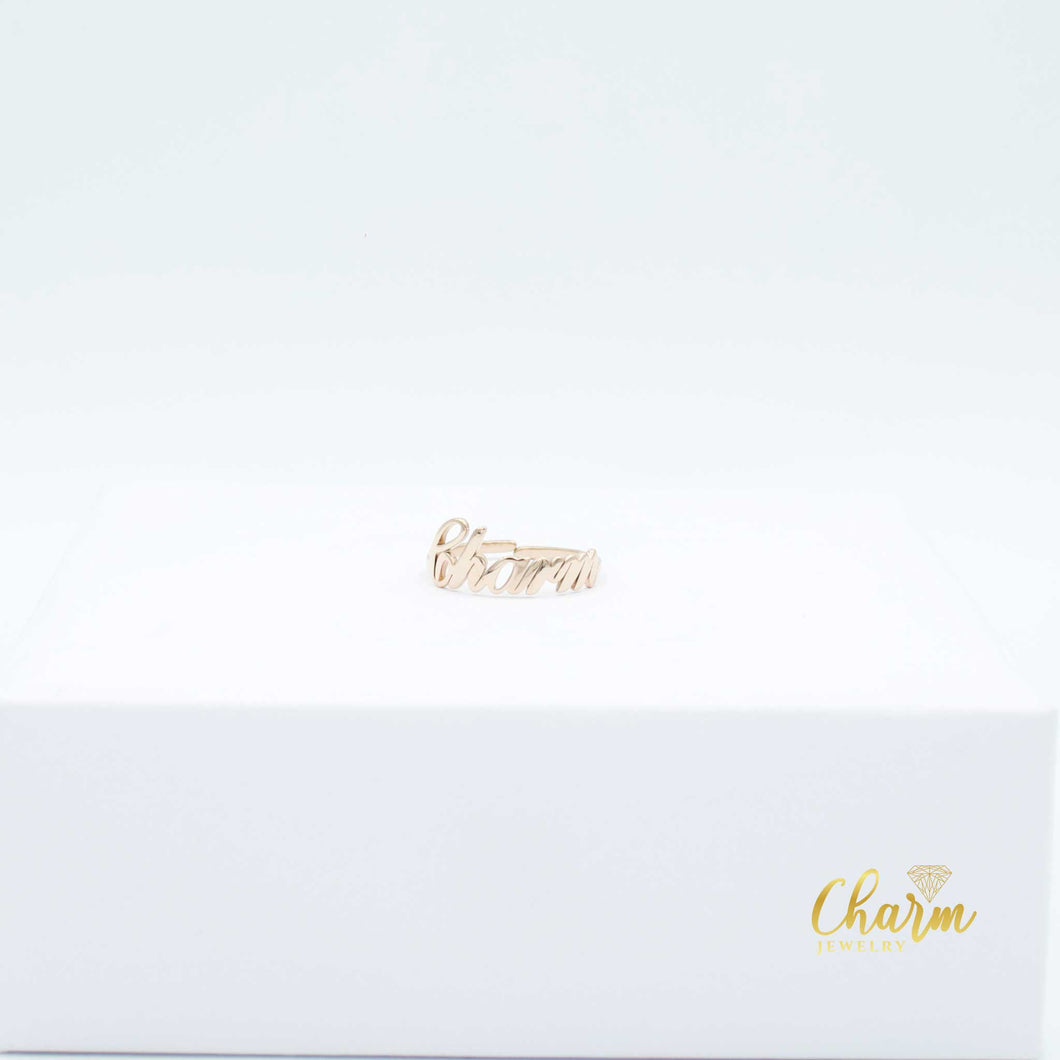 #MYCHARM 'WORD' RING