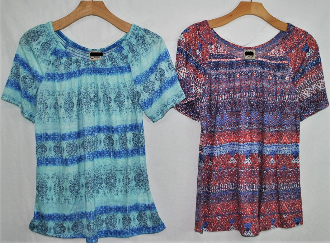 SS Print Top $4.50/pc  Price per 12pc. pack