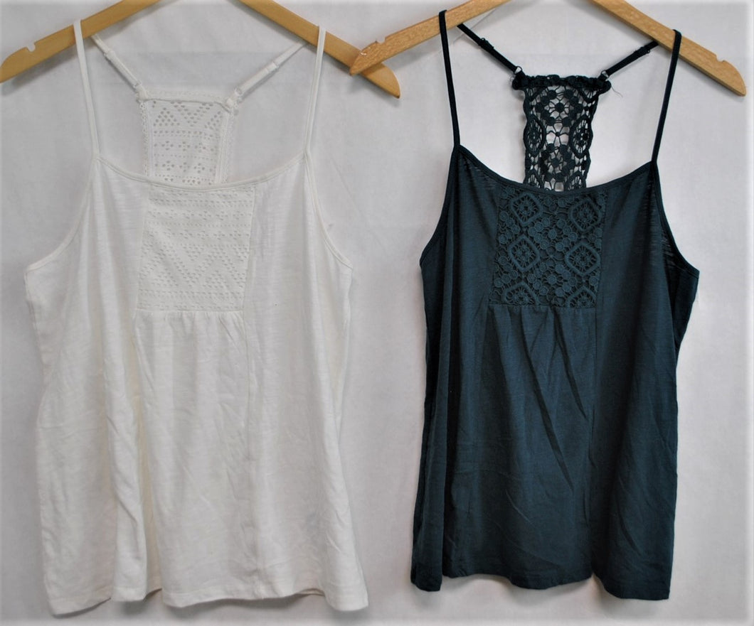 Crochet Back Cami $3.50/pc    Price per 12pc pack