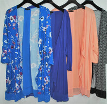 Load image into Gallery viewer, Plus Size Kimono $6.50/pc   Price per 12pc pack