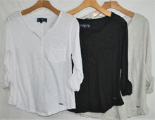 Load image into Gallery viewer, 3/4 Sleeve Knit Slub Henley $4.00/pc   Price per 12pc pack