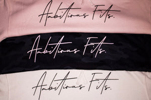 Signature Ambitious Fits. Crop Hoodie