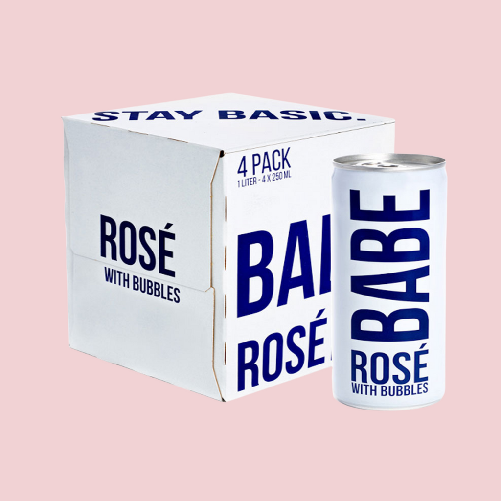 Babe Rosé with Bubbles (Canned 4-pack)