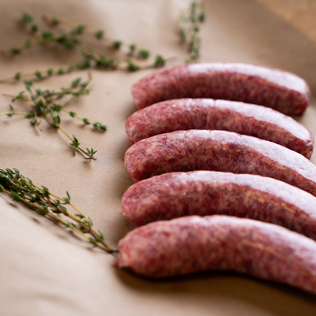 Two Grill-Ready Cheshire Farms, Heritage Bratwurst