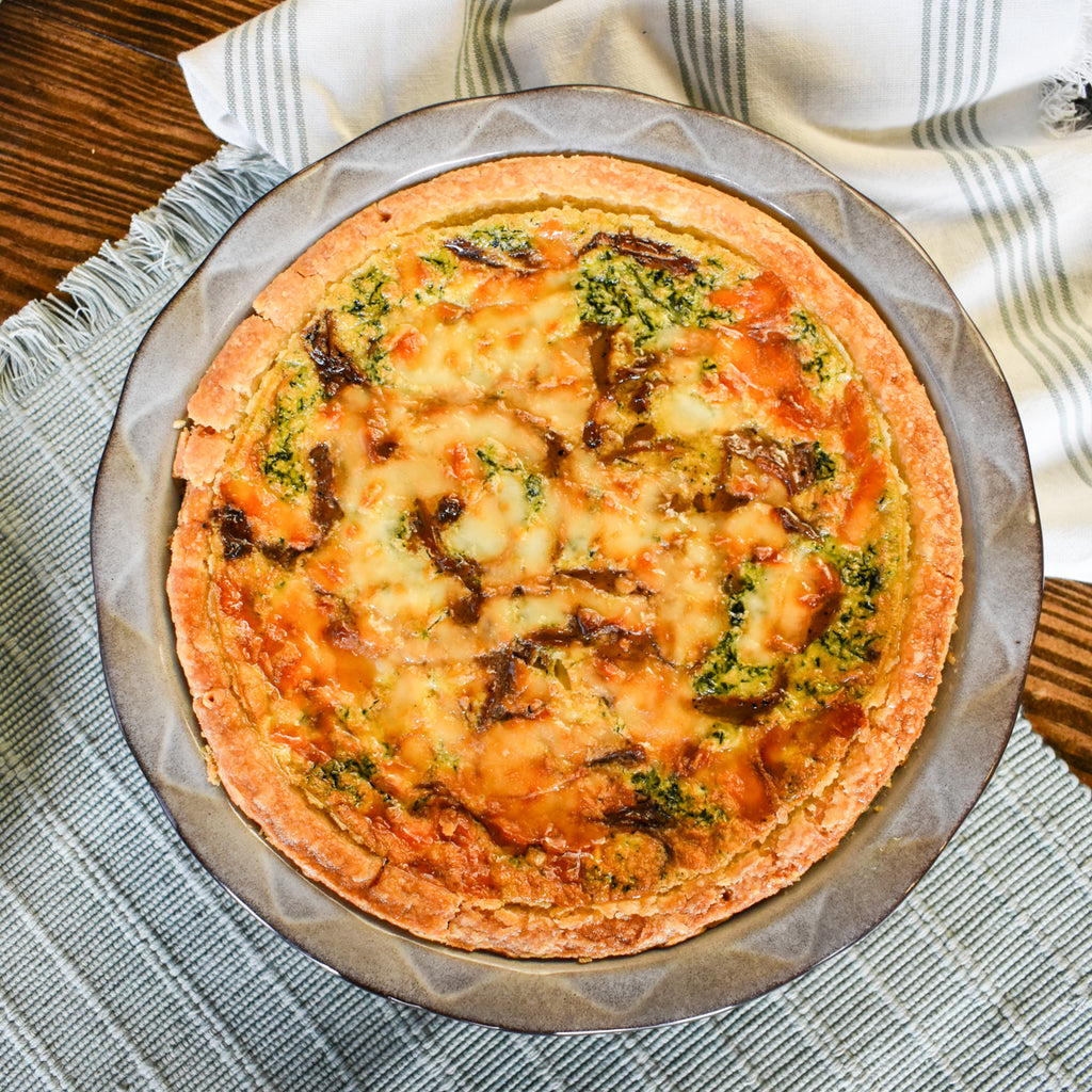 Gruyere and Spinach Quiche