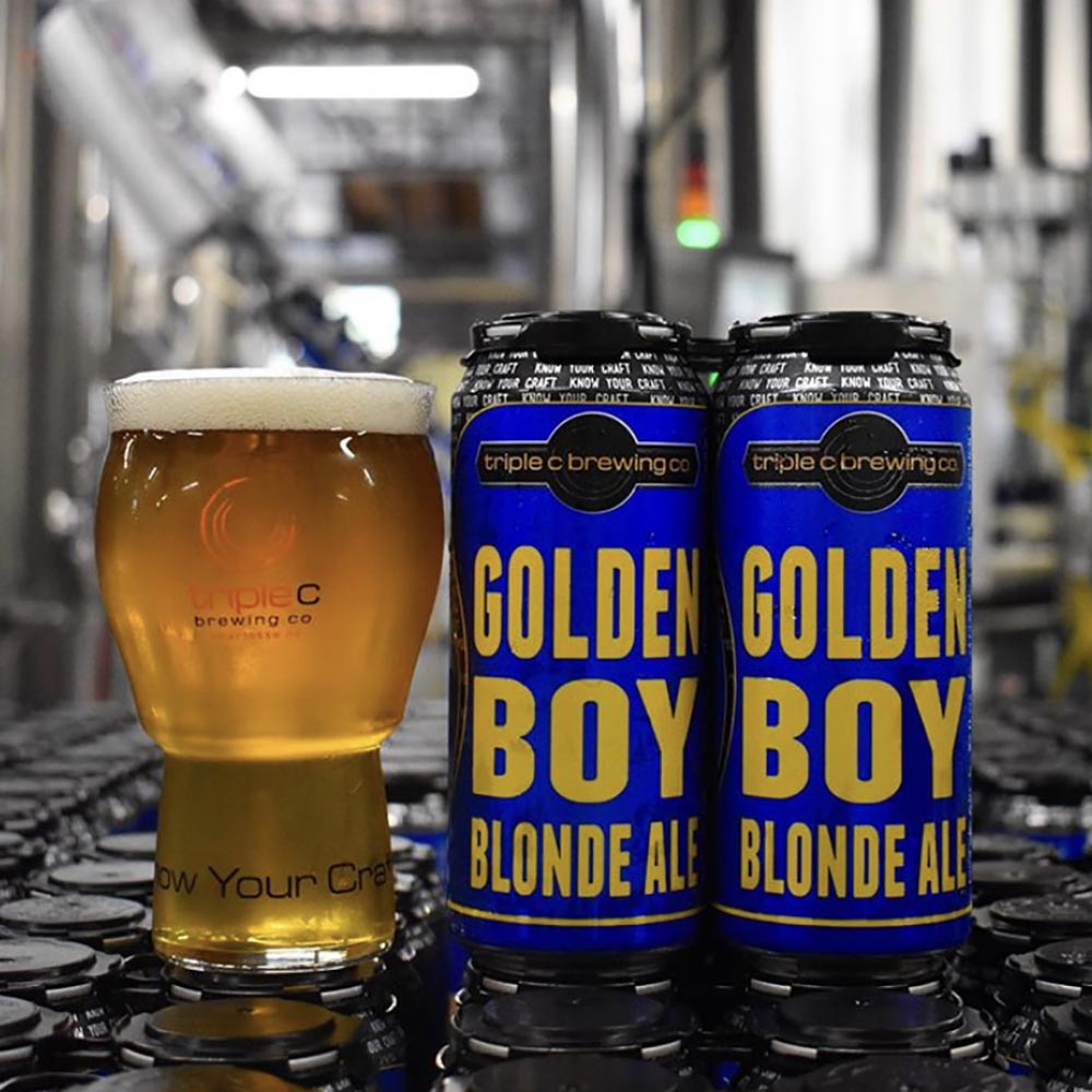 Triple C Brewing - Golden Boy Blonde Ale (4-Pack)