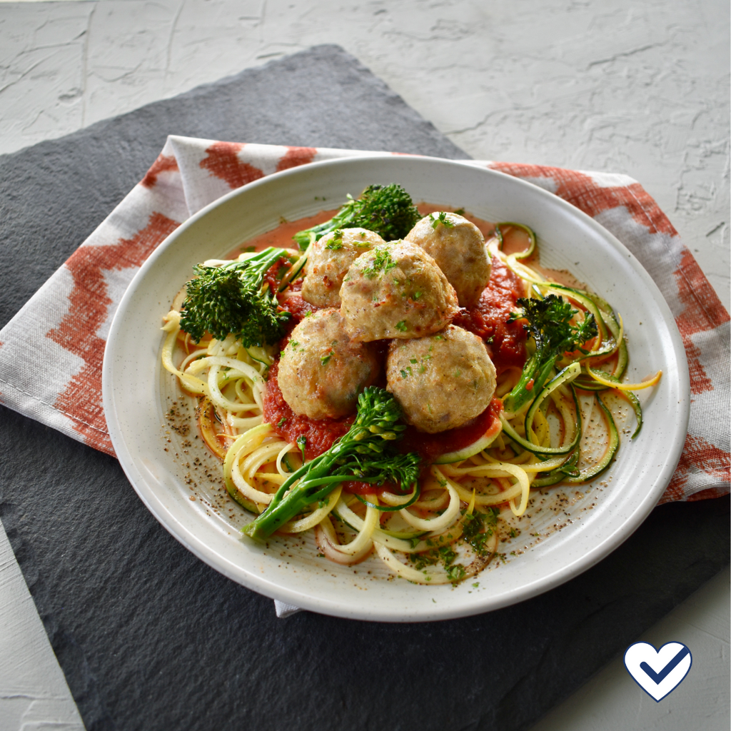 Italian Style Meatballs with Zucchini Noodles