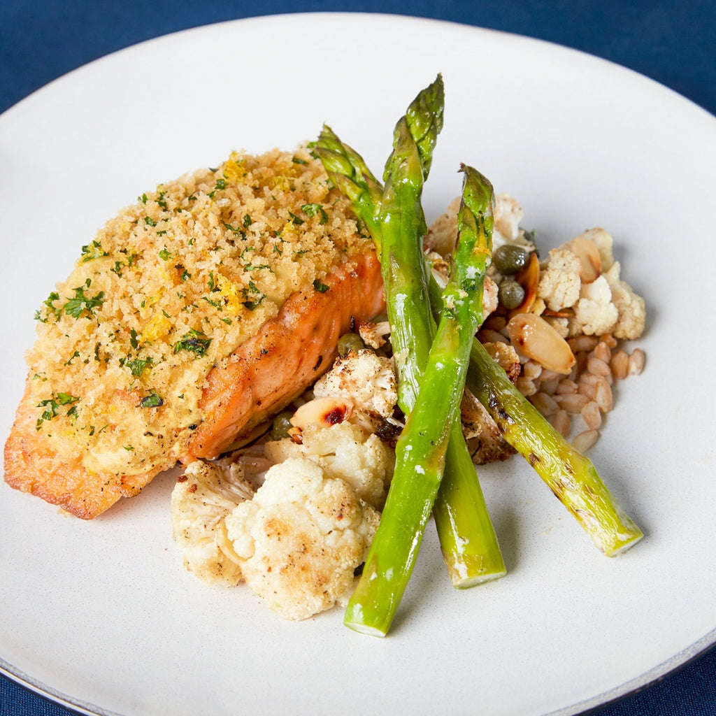 Pan-seared Atlantic Salmon with Dijon Gremolata