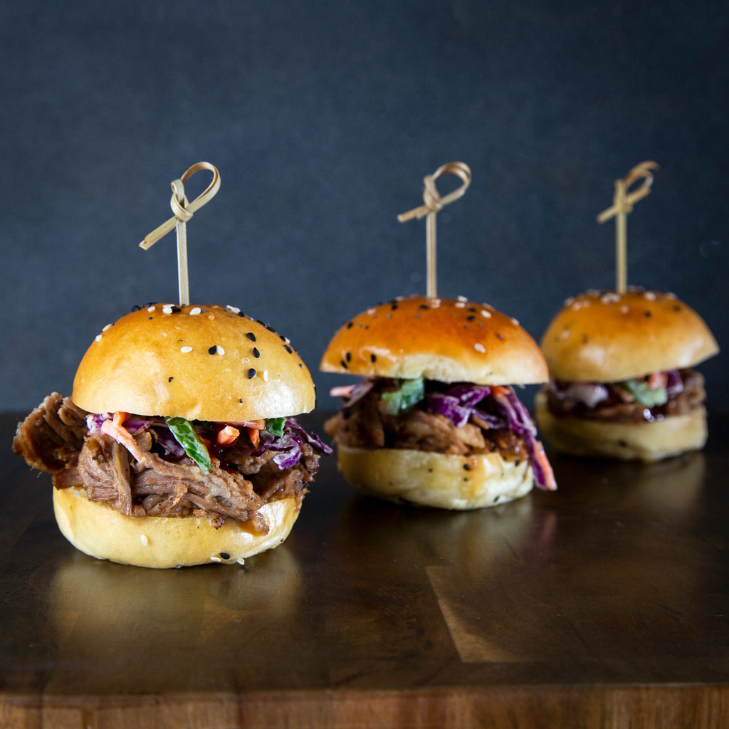 Three Pulled Pork Sliders Appetizer
