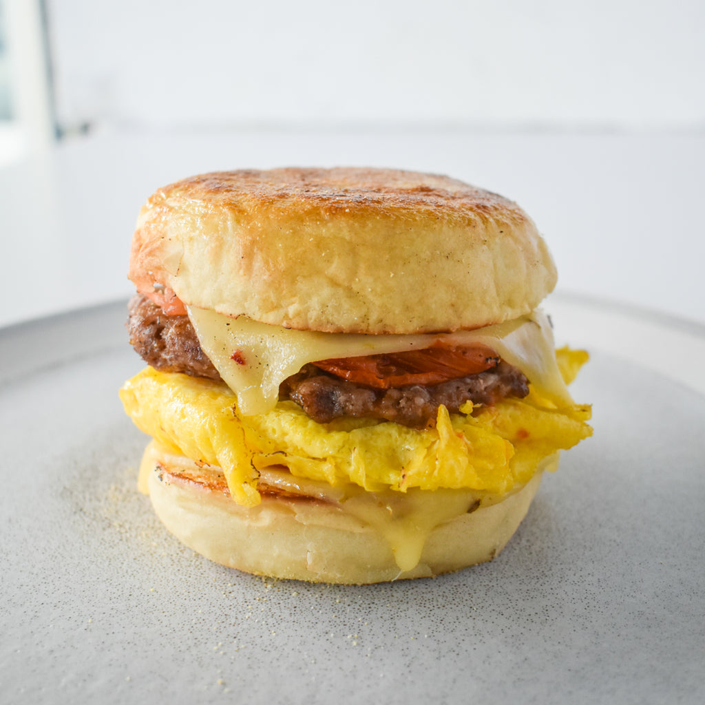 Sausage Egg & Pepper-jack English Muffin